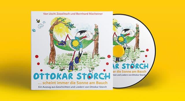 Ottokar Storch - das Maskottchen von best for family hat ein eigenes Hörbuch