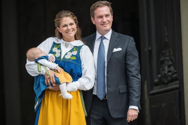 Prinzessin Madeleine brachte drittes Kind zur Welt