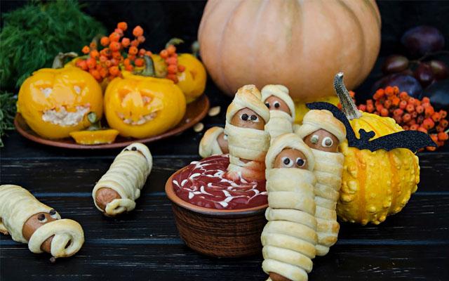 Wurst Mumien für Halloween