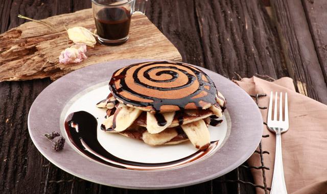 Bananen-Pancakes mit Nutella