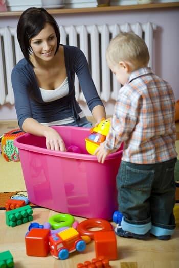 Aufgeräumte Kinder, glückliche Eltern