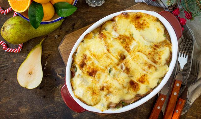 Birnen-Kartoffel-Gratin