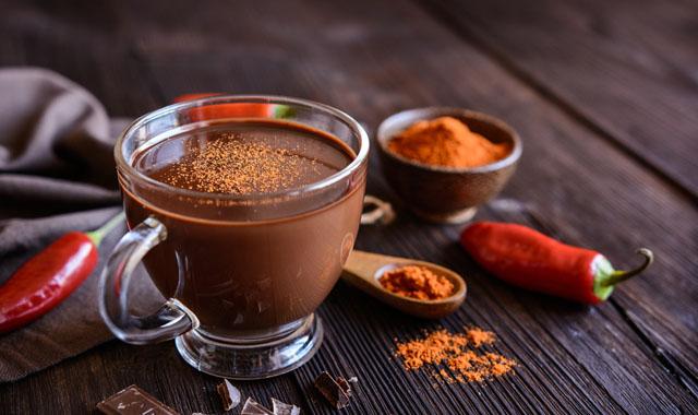 Kakaogetränk mit Chili