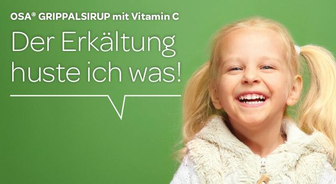 Volle Abwehrkraft voraus - OSA® Grippalsirup mit Vitamin C