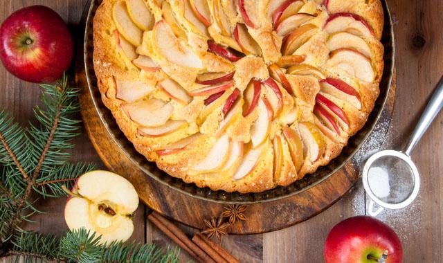 Apfel-Scheiterhaufen